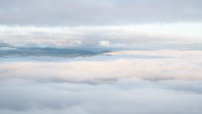 Landscape of moving mist in the mountain and hill Stock Images