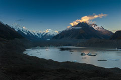 Landscape of mt.cook national park, New Zealand Royalty Free Stock Photo