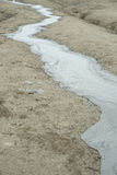 Landscape with mud river Royalty Free Stock Images