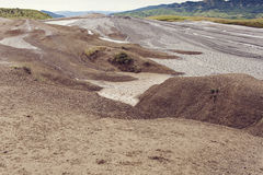Landscape from mud volcanoes in Buzau, Romania Royalty Free Stock Photography