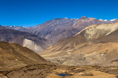 Landscape of Muktinath village in lower Mustang District, Nepal Stock Image