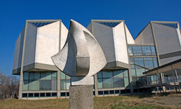 Landscape of Museum of Contemporary Art in Belgrade Royalty Free Stock Images