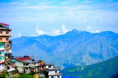 Landscape mussoorie uttrakhand india royalty free stock photography