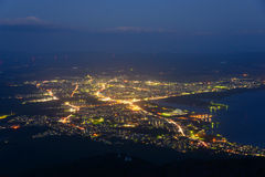 Landscape of Mutsu city Stock Images