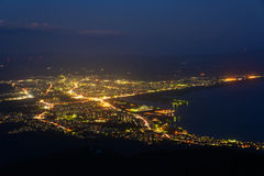 Landscape of Mutsu city Royalty Free Stock Photography