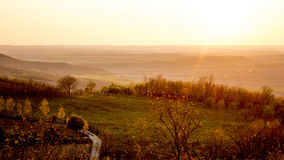 Landscape. My favorite place in Hungary. There is a beautiful sunset Royalty Free Stock Photos