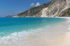 Landscape of Myrtos beach, Kefalonia, Ionian islands, Greece Stock Photo