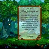 Landscape with mystical nature stock illustration