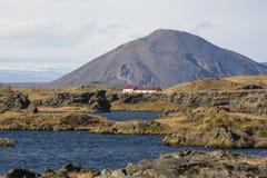 Landscape of Myvatn in Iceland stock photo
