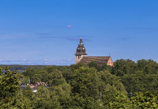 Landscape with Naantali Church Royalty Free Stock Images
