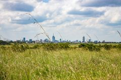 Landscape of Nairobi skyline view. At the horizon for use as wallpaper or background image stock photo