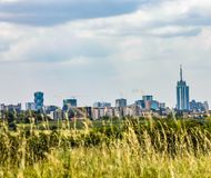 Landscape of Nairobi skyline view. At the horizon for use as wallpaper or background image royalty free stock photos