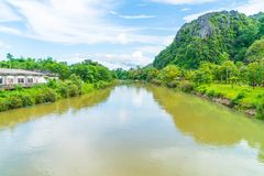 Nam Song River at Vang Vieng, Laos Stock Images