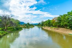 Nam Song River at Vang Vieng, Laos Stock Photography