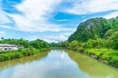 Nam Song River at Vang Vieng, Laos Stock Photos