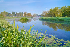 Landscape with The Narew River. Stock Images