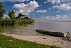 Landscape at national park Fertő-Hanság, Hungary Royalty Free Stock Photo