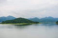 Landscape Natrue and a water mist at Kaeng Krachan Dam. Stock Photos