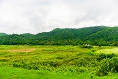Landscape Natrue and a water mist at Kaeng Krachan Dam. Royalty Free Stock Photography