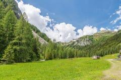 Landscape of the Natur park Riedingtal Zederhaus, Austria.  stock images