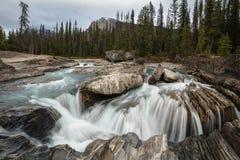 Landscape of Natural Bridge, Yoho National Park, British Columbia royalty free stock photography