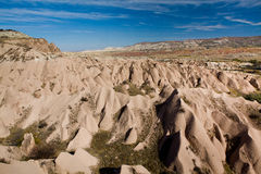 Landscape of natural rock forms Cappadocia, Royalty Free Stock Photos