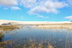 Sand Dune and Lake, Corrubedo Royalty Free Stock Image