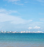 Landscape of natural  and sky. Background is Pattaya city Stock Photos