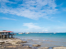 Landscape of natural  and sky.  Background is Pattaya city Royalty Free Stock Images