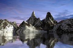 Landscape Natural snow mountain render Stock Photos