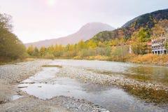 Kamikochi national park in autumn Japan. Landscape natural view of Kamikochi national park in autumn Japan Royalty Free Stock Images