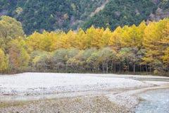 Kamikochi national park in autumn Japan. Landscape natural view of Kamikochi national park in autumn Japan Stock Photography