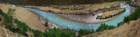 Landscape,Nature,China,Tibet. Panoramagram of Niyang River Tibet Royalty Free Stock Image
