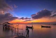 Landscape, nature, clauds, skies, sky, sunset, sunrise, lake,. Lake nature sunset sunrise indonesia jakarta asia sky sun blue sky Royalty Free Stock Images