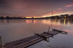 Landscape, nature, clauds, skies, sky, sunset, sunrise, lake,. Lake nature sunset sunrise indonesia jakarta asia sky sun blue sky Royalty Free Stock Photos