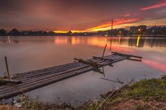 Landscape, nature, clauds, skies, sky, sunset, sunrise, lake,. Lake nature sunset sunrise indonesia jakarta asia sky sun blue sky Royalty Free Stock Photography