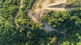 Landscape nature view, summer a view of mountains in thailand Aerial view Drone shot.  stock image