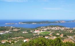 Landscape of Navarino bay Messinia Peloponnese Greece royalty free stock photos
