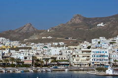 Landscape of Naxos town, Cyclades Islands Stock Photography