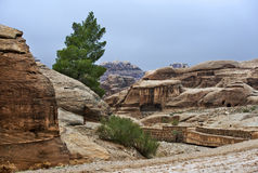Landscape near of ancient Petra in Jordan Stock Image
