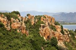 Landscape near Arbatax. Sardinia. Italy Stock Images