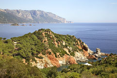 Landscape near Arbatax. Sardinia. Italy Royalty Free Stock Photos