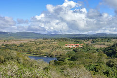 Landscape near archaeological site of Chinkultic in Chiapas Royalty Free Stock Image
