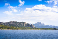 Landscape near Cannigione, Sardinia. In Italy Stock Photos