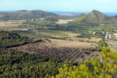 Landscape near Canyamel Stock Photos