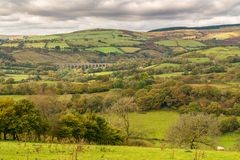Landscape near Cynghordy, Wales, UK Stock Photography