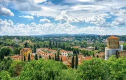 Landscape near Florence stock photography
