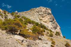 Landscape near foot of Koba-Kaya mountain near Noviy Svet resort, Crimean peninsula Stock Images