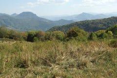 Landscape near Glozhene Monastery, Stara Planina Mountain  Balkan Mountains, Lovech region, Bulgaria Royalty Free Stock Photo