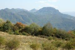 Landscape near Glozhene Monastery, Stara Planina Mountain  Balkan Mountains, Lovech region, Bulgaria Royalty Free Stock Photography